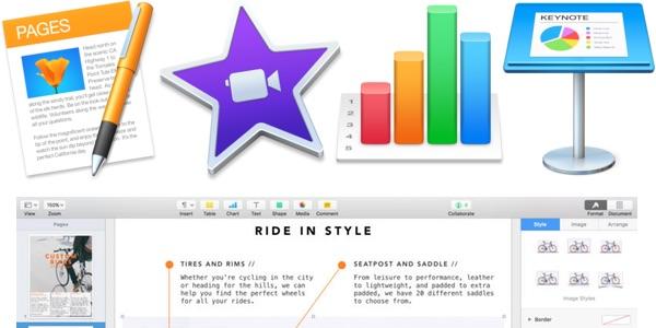 iWork gratis para macOS iOS