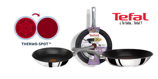 Set de sartenes Tefal Envy baratas en Amazon