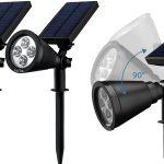 Pack 2 lámparas solares LitOm baratas en Amazon