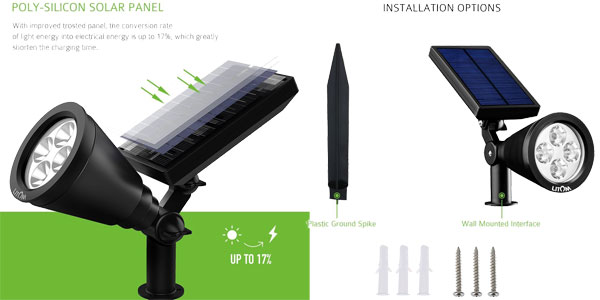 Chollazo pack 2 l mparas led solares impermeables para - Lamparas solares exteriores ...