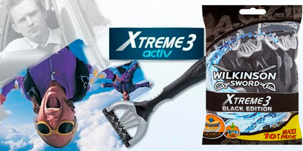 Chollo máquina desechable Wilkinson Xtreme III, pack 10 unidades Amazon