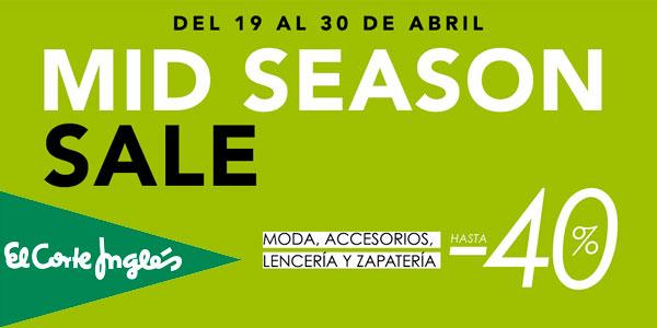new product e36a7 cd656 Rebajas Mid Season Sale en El Corte Inglés con hasta un -40 ...