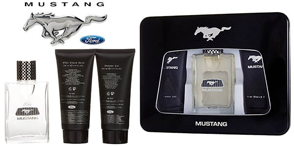 mustang set colonia after shave gel ducha hombre barato