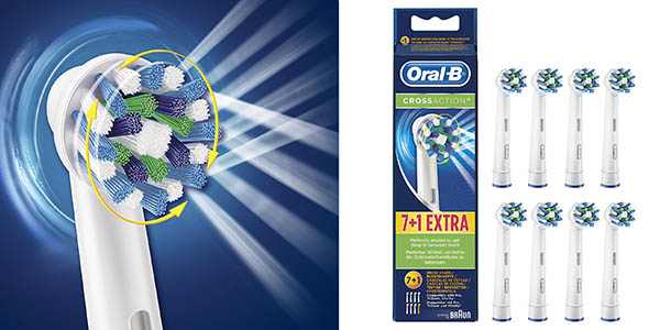 pack 8 cabezales Oral-B CrossAction originales baratos