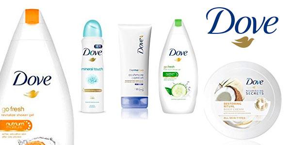 Packs de productos de belleza DOVE rebajados en Amazon