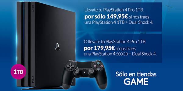 PS4 Pro barata Plan Renove Game