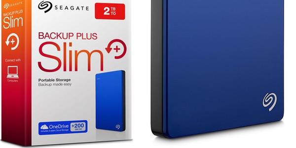 Disco duro externo portátil Seagate Backup Plus Slim de 2TB