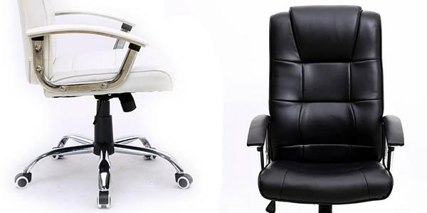 Silla de oficina stanford en blanco o negro por s lo 59 96 for Silla oficina comoda