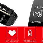 Smartband Lemfo S2 con bluetooth 4.0 para iOS y Android con Bluetooth 4.0