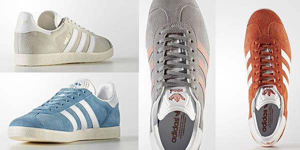 zapatillas de diseño clásico Adidas Gazelle en terciopelo