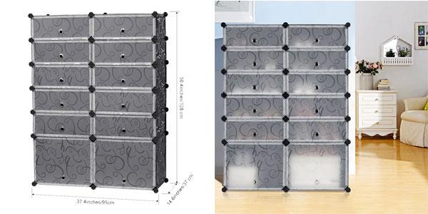 Chollo armario pongotodo modular de 12 cubos langria por for Armario zapatero amazon