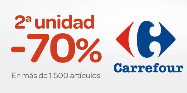 Carrefour descuento 70% en la segunda unidad