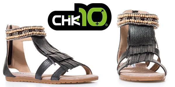 Chika10 sandalias Qatar01 negro mujer baratas