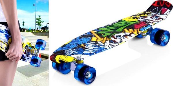 Monopatín Enkeeo Skateboard Retro al mejor precio