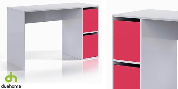 escritorio juvenil DueHome iPink relación calidad-precio espectacular