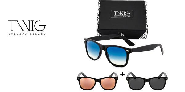Caja de 3 gafas de sol Wayfarer de Twig Concept Milano baratas en eBay