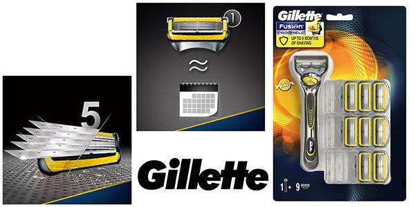Gillette Fusion ProShield maquinilla afeitar 8 recambios barata