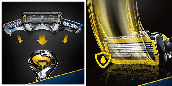 máquina afeitar Gillette Fusion ProShield lubricante cuchillas tecnología PowerBall