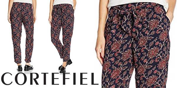 mejor servicio completamente elegante estética de lujo Chollo pantalones Cortefiel Fluido Flores para mujer por ...