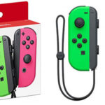 Set Joy-Con color rosa y verde neón para Nintendo Switch