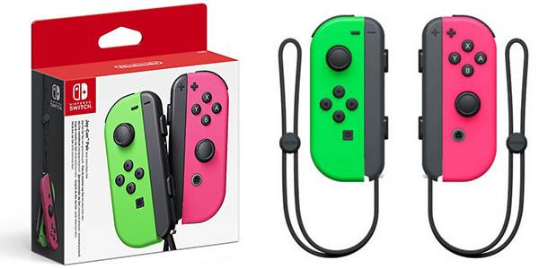 Set Joy-Con color rosa y verde neón para Nintendo Switch