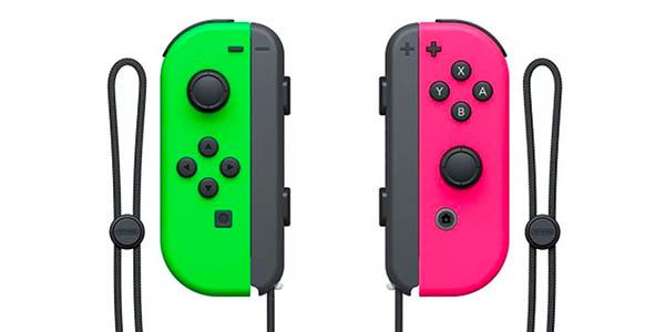 Set Joy-Con color rosa y verde neón para Nintendo Switch barato