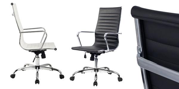 Chollo silla de oficina giratoria ajustable de estilo moderno (en ...