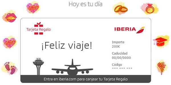 tarjeta regalo Iberia canjear por vuelos