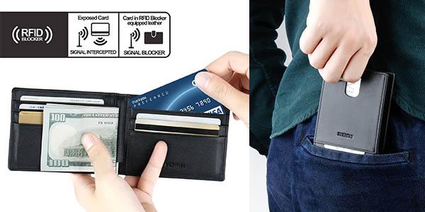 tarjetero billetero para hombre Bestkee con bloqueo RFID barato