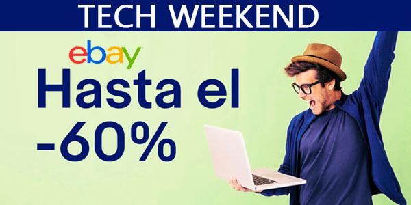 Tech Weekend en eBay con desuentos de hasta el 60% en tecnología