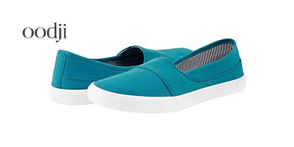 Chollazo zapatillas de lona para mujer oodji ultra en - Zapatillas lona carrefour ...