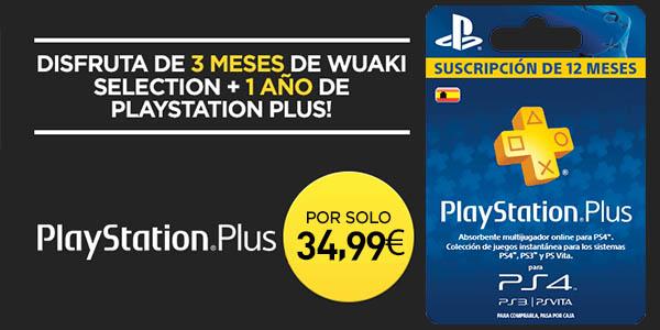 12 meses de playstation plus 3 meses de wuaki selection por s lo 34 99 corre - Psn plus 3 meses ...