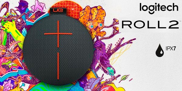 Altavoz Bluetooth portátil Logitech Roll 2 impermeable barato en Amazon