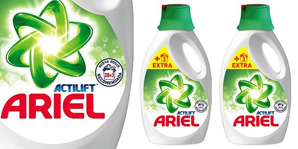 Ariel Actilift líquido 2 botellas 62 lavados para la ropa barato