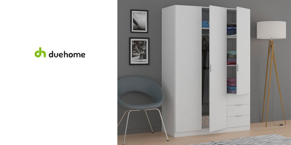 Chollo armario ropero de tres puertas por s lo 99 con for Super chollo muebles