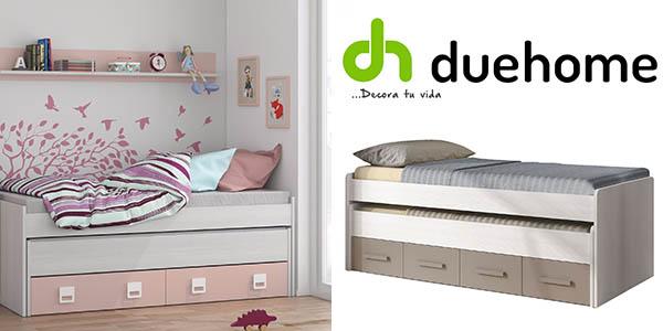 Chollo cama doble duehome con cajones y estanter a por for Cama doble con cajones