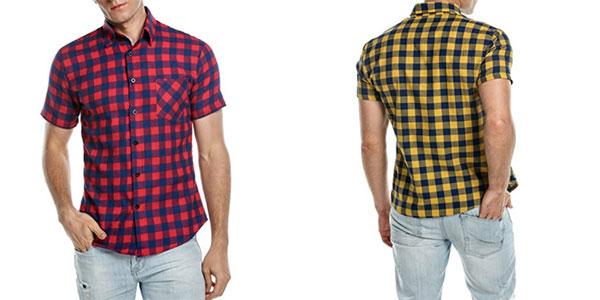 b9c59d5ef35cb Chollo camisa casual de manga corta Coofandy para hombre por sólo 19