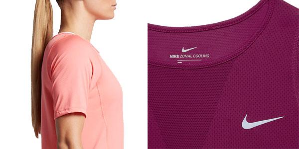 Chollazo camiseta manga corta para mujer running Zonal Cooling Relay en Nike Store