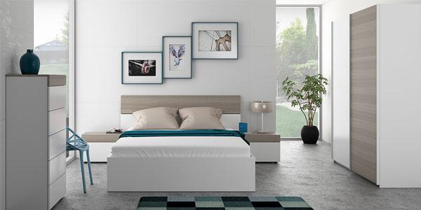 Chollo conjunto cabezal y dos mesitas dormitorio for Conjunto dormitorio matrimonio baratos