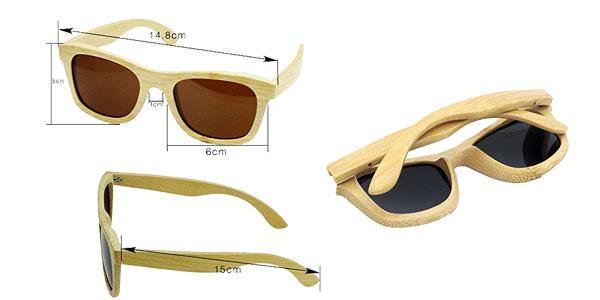 Gafas de sol de madera polarizadas Habi chollo en Amazon España