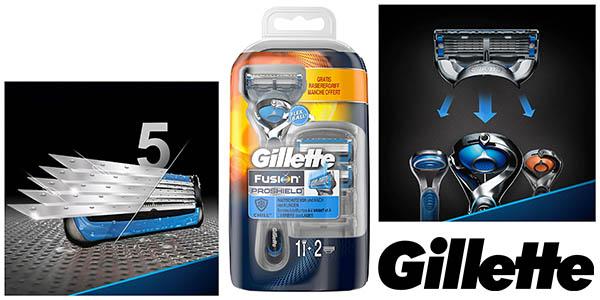 Gillette Fusion Proshield maquinilla con 2 recambios barata