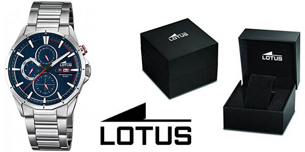 646afdd17bca Lotus 18319 2 reloj de pulsera para hombre con correa en acero inoxidable  barato