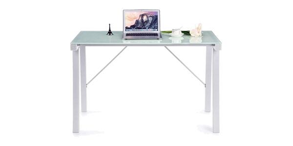 Chollo mesa de escritorio oficina o estudio ikayaa por for Mesas de escritorio amazon
