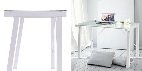 Chollo mesa de escritorio oficina o estudio ikayaa por for Mesa oficina cristal templado