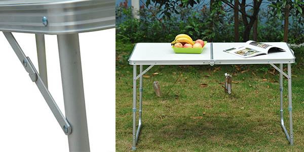 mesa plegable cámping resistente barata