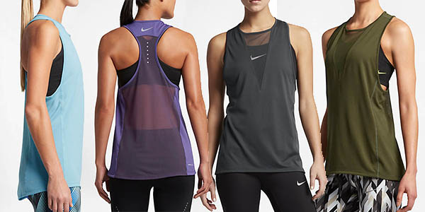 Camisetas de tirantes Nike Zonal Cooling Relay para mujer por sólo ... e00da3a510f41