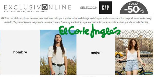 rebajas GAP El Corte Inglés 20 junio 2017