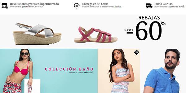rebajas en Moda Carrefour envío gratis junio 2017