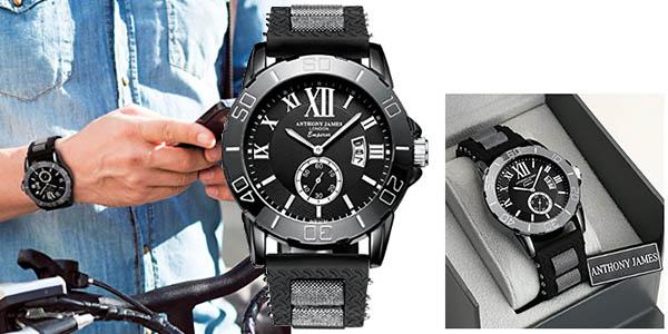 reloj de pulsera Anthony James deportivo para hombre barato