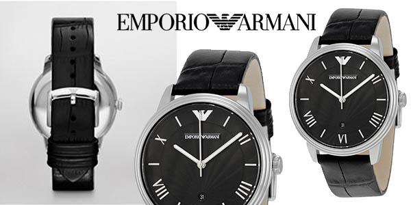 d9d82e64791b Reloj Emporio Armani AR1611 para hombre con correa de cuero por sólo ...